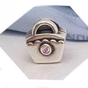 b8b1794f7 Pandora Jewelry | 790473pcz Retired Pink Cz Diaper Bag Charm | Poshmark